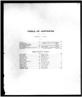 Table of Contents, Grant County 1907