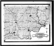 Kay County Outline Map, Kay County 1910