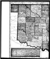 Oklahoma State Map Left, Woods County 1906
