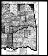 Oklahoma State Map Right, Woods County 1906