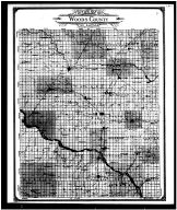 Woods County Outline Map, Woods County 1906