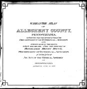 Title Page, Allegheny County 1763 to 1914 Land Surveys