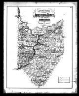 Armstrong County Outline Map, Armstrong County 1876