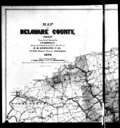 Delaware County Map - Above Left, Delaware County 1870
