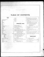 Table of Contents, Delaware County 1870