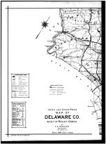Index Map - Delaware County West of Ridley Creek Left, Delaware County 1909 Vol 2