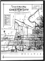 Plate 032 - Index Map of Chester City Streets and Wards Left