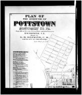 Page 042, 043 - Pottstown Above Left, Montgomery County 1871
