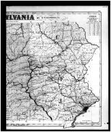 Pennsylvania State Outline Map - Index Right, Montgomery County 1871