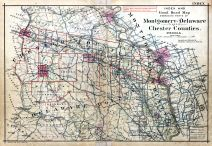 Index Map, Pennsylvania Railroad 1912 Devon to Downingtown and West Chester