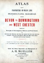Title Page, Pennsylvania Railroad 1912 Devon to Downingtown and West Chester