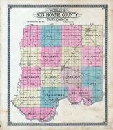 Bon Homme County Outline Map, Bon Homme County 1912