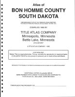 Title Page, Bon Homme County 1995