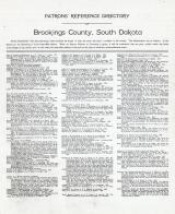 Directory 1, Brookings County 1909