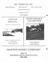 Hoffman Oil Co, Agri-Air Spraying, Buddy Myer's Hay Moving, Skipper Honey Co, Brule County 1986