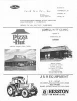 United Auto Parts INC, Pizza Hut, Community Clinic, J&R Equipment, Brule County 1986
