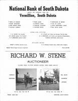 National Bank of South Dakota, Richard W. Stene Auctioneer, Clay County 1968