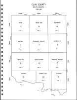Clay County Code Map, Clay County 1992