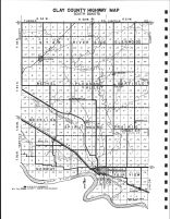 Clay County Highway Map, Clay County 1992