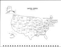 United States Map, Clay County 1992
