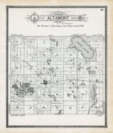 Altamont Township, Lake Alice, Rush Lake, Deuel County 1909