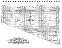 Douglas County Outline Map, Douglas County 1909-1910