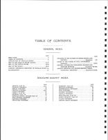 Table of Contents, Douglas County 1909-1910
