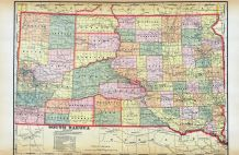 South Dakota Map, Gregory County 1912