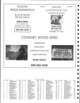 Brandon Township Owners Directory, Ad - Country Wood Shed, Dakato Ridge Simmentals, Swier Livestock, Minnehaha County 1991