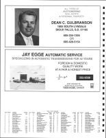 Split Rock Township Owners Directory, Ad - Dean C. Gulbranson Auctioneer, Jay Egge Automatic Service, Minnehaha County 1991
