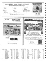 Wall Lake Township Owners Directory, Ad - Dakota Wild Game Farm and Hatchery, Coast to Coast Hardware, Minnehaha County 1991