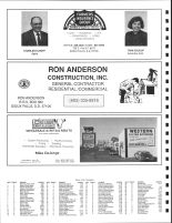 Wayne Township Owners Directory, Ad - Ron Anderson Construction, Western Meat and Locker, Minnehaha County 1991