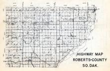 Roberts County Highway Map 1, Roberts County 1952