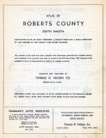 Title Page, Roberts County 1952