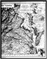 Virginia and West Virginia State Maps - Right