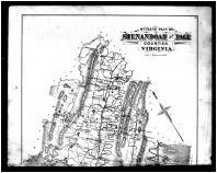 Shenandoah and Page Counties Outline Map - Above, Shenandoah and Page Counties 1885