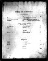 Table of Contents, Shenandoah and Page Counties 1885