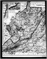 Virginia and West Virginia - Left, Shenandoah and Page Counties 1885