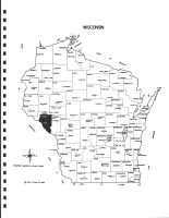 Wisconsin State Map, Buffalo County 1983