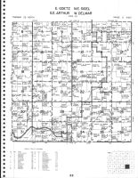 Goetz - East, Sigel - NE, Arthur - SE and Delmar - West Townships, Cadot, Chippewa County 1979