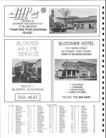 East Woodmohr Township and Northeast Eagle Township Owners Directory, Ad - Jill's 76, Bloomer Hotel, Chippewa County 1991