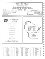 South Auburn Township and Cooks Township Owners Directory, Ad - This N That Shop, Schindler Lumber, Chippewa County 1991