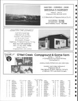 West Tilden Township, Ad - Bresina's Nursery, Country Time Ceramics, O'Neil Creek Campground, Chippewa County 1991