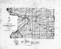 Columbia County Map, Columbia County 1953