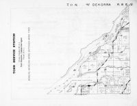 Dekorra Township - West, Wisconsin River, Rowan Creek, Columbia County 1953