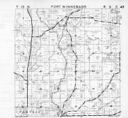 Fort Winnebago Township, Portage, Dates Mill Pond, Anacker, French Spring, Columbia County 1953