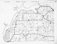 West Point Township, Wisconsin River, Crystal Lake, Okee, Columbia County 1953