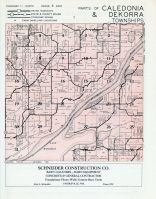 Caledonia and Dekorra Townships, Wisconsin river, Columbia County 1956c