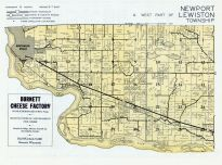 Newport Township, Lewiston Township - West, Wisconsin Dells, Columbia County 1956c