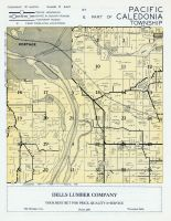 Pacific and Caledonia Townships, Portage, Wisconsin River, Columbia County 1956c